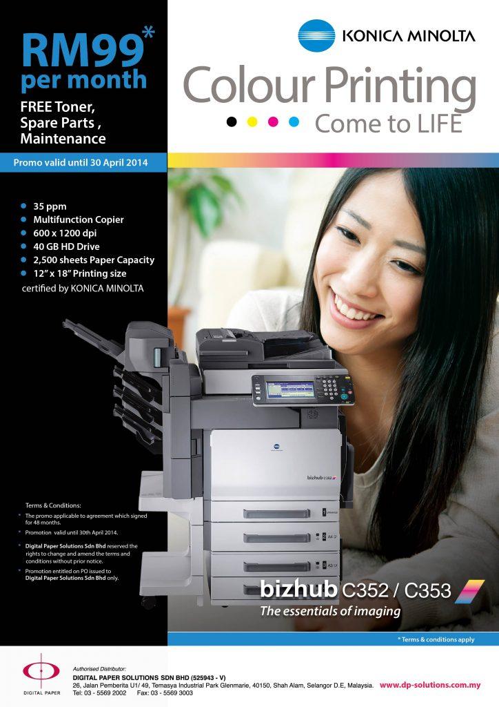 Konica Minolta Color Printing come to Life 1