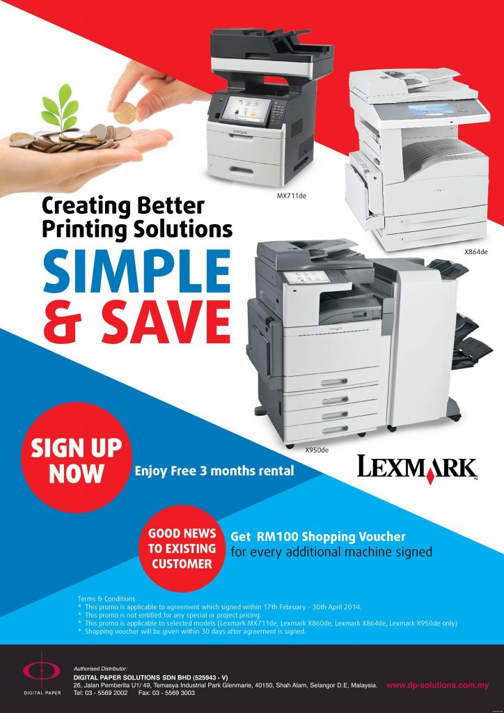 Lexmark-Simple & Save Plan 1