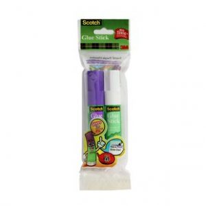 Scotch Glue Stick Twin Pack(purple and white)