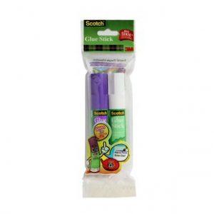 Scotch Glue Stick Twin Pack(purple and white)